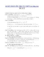 60 ĐỀ TOÁN ÔN THI TN THPT (có đáp án) Đề số 5 pdf