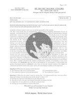 TRƯỜNG THPT PHAN ĐÌNH PHÙNG HÀ NỘI:ĐỀ THI THỬ ĐẠI HỌC NĂM 2012 môn anh văn (đề 423) ppt