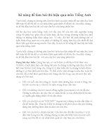 Kĩ năng để làm bài thi hiệu quả môn Tiếng Anh 2012 ppt