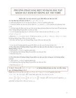 PHƯƠNG PHÁP GIẢI MỘT SỐ DẠNG BÀI TẬP KHẢO SÁT HÀM SỐ TRONG KỲ THI TSĐH pdf