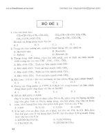 Tuyển tập bộ đề thi thử chọn lọc môn Hóa có hướng dẫn giải chi tiết doc