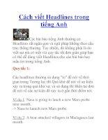 Cách viết Headlines trong tiếng Anh pptx
