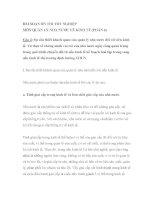 BÀI SOẠN ÔN THI TỐT NGHIỆP MÔN QUẢN LÝ NHÀ NƯỚC VỀ KINH TẾ (PHẦN 4) potx