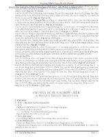 Lý thuyết và bài tập hóa học 11 cơ bản và nâng cao(Phần 3) ppt