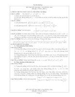 thi thử đại học môn toán năm 2012_Đề số 1-10 docx