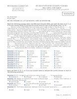 Đề ôn thi trắc nghiệm cao đẳng môn anh văn 2012_6 ppt