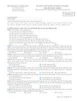 Đề ôn thi trắc nghiệm cao đẳng môn hóa học 2012 khối B_1 docx
