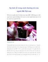Sự tinh tế trong cách thưởng trà của người Hà Nội xưa doc