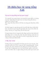 10 chiêu học từ vựng tiếng Anh pot