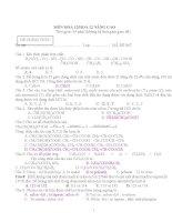 bộ đề kiểm tra 1 tiết, thi học kỳ chương trình hóa lớp 12