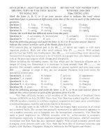 Đề thi tốt nghiệp trung học phổ thông môn tiếng anh 2012_Quảng Nam pdf
