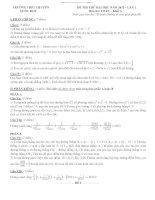 ĐỀ THI THỬ ĐẠI HỌC LẦN 1 NĂM 2012 MÔN TOÁN KHỐI A TRƯỜNG THPT CHUYÊN QUỐC HỌC pdf