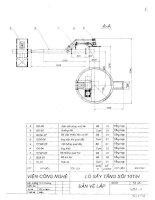 nghiên cứu thiết kế, chế tạo hệ thống sấy tầng sôi công nghiệp phục vụ sấy quặng, khoáng sản phụ lục bản vẽ 6797-1