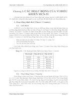 Giáo trình Vi điều khiển-Các hoạt động của vi điều khiển MCS-51 Chƣơng 3: pptx