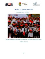 MEDIA CLIPPING REPORT hai duong HELMET FOR KIDS HAND OVER CEREMONY AT AI QUOC PRIMARY SCHOOL MARCH 15 2013