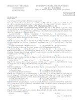 Đề ôn thi trắc nghiệm cao đẳng môn hóa học 2012 khối A_6 ppt