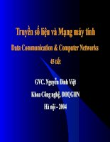 truyền số liệu và mạng máy tính data communication  computer networks