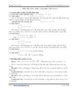 Nột số công thức toán học lớp 10 và 11 pptx
