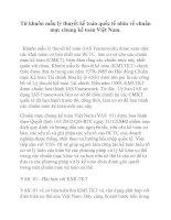 Từ khuôn mẫu lý thuyết kế toán quốc tế nhìn về chuẩn mực chung kế toán Việt Nam. ppt