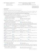 Đề ôn thi trắc nghiệm cao đẳng môn hóa học 2012 khối A_2 ppt