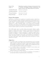 Báo cáo nghiên cứu nông nghiệp