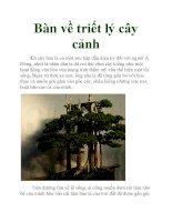 Bàn về triết lý cây cảnh docx