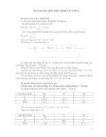 Bài tập môn điều khiển tự động pot