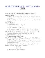 60 ĐỀ TOÁN ÔN THI TN THPT (có đáp án) Đề số 6 pptx