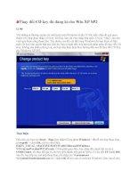 Thay đổi CD key đã đăng kí cho Win XP SP2 potx