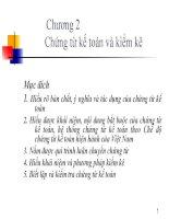 NGUYÊN LÝ KẾ TOÁN ( PHAN THỊ MINH LÝ ) - CHƯƠNG 2 pdf
