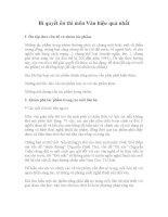 Bí quyết ôn thi môn Văn hiệu quả nhất 2012 ppt