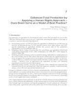 Food Production Approaches, Challenges and Tasks Part 7 pptx