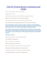 Unit 10. Present perfect continuous and simple doc