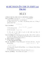 60 ĐỀ TOÁN ÔN THI TN THPT (có đáp án) Đề số 1(tt) pdf