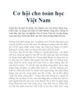Cơ hội cho toán học Việt Nam potx