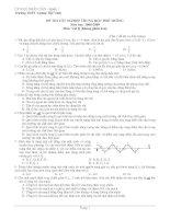 Đề thi thử tốt nghiệp môn vật lý_THPT Lương Thế Vinh ppt