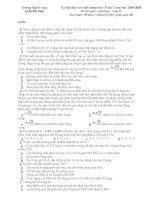 Tuyển tập đề thi thử đại học môn sinh năm 2009_THTP Lê Xoay_Đề 05 pdf