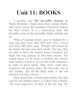 Unit 11: BOOKS potx