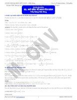 Chuyên đề Nguyên Hàm  Tích Phân  Thầy Đặng Việt Hùng (Full) Ôn thi Đại Học