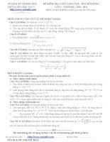 Đề ôn thi trắc nghiệm cao đẳng môn toán 2012 pot