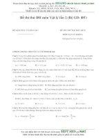 Đề thi thử ĐH môn Vật lý lần 2 (Bộ GD- ĐT) môn lý khối A doc