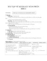 BÀI TẬP VỀ KHẢO SÁT HÀM PHÂN THỨC pdf