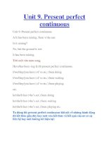 Unit 9. Present perfect continuous ppt