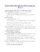 60 ĐỀ TOÁN ÔN THI TN THPT (có đáp án) Đề số 3 ppt