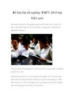 Để bài thi tốt nghiệp THPT 2010 đạt hiệu quả pot