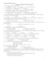 Bài tập tổng hơp môn hóa chương trình phổ thông
