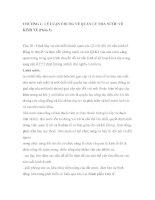 CHƯƠNG I : LÝ LUẬN CHUNG VỀ QUẢN LÝ NHÀ NƯỚC VỀ KINH TẾ (Phần 5) pdf