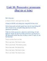 Unit 10. Possessive pronouns (Đại từ sở hữu) pdf