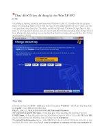 Thay đổi CD key đã đăng kí cho Win XP SP2 ppt