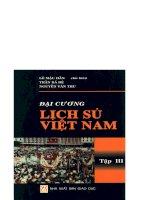 Đại cương lịch sử Việt Nam tập 3 part 1 docx